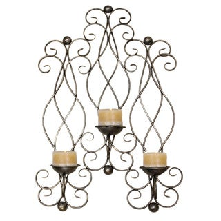 Casa Cortes Metal Wall-mount 3-candle Sconce Decor