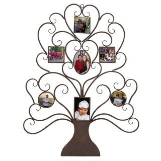 Family Tree Photo Frame Large 40-inch Metal Wall Art Decor
