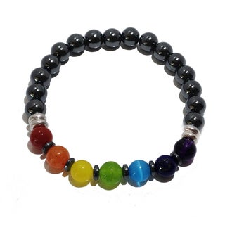 Deluxe Chakra Balancing Multi-gemstone Bracelet