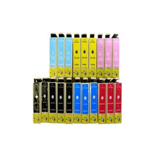 Compatible Epson 98 T098 Ink Cartridges for Epson ARTISAN: 700 710 725 800 810 835 ( Pack Of 20:5K/3C/3M/3Y/3LC/3LM)