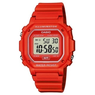 Casio F108WH-4A Illuminator Collection Red Resin Strap Digital Watch