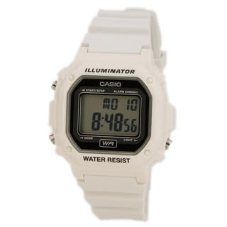 Casio F108WHC-7A White Classic Casual Alarm Chronograph With Black Digital Dial