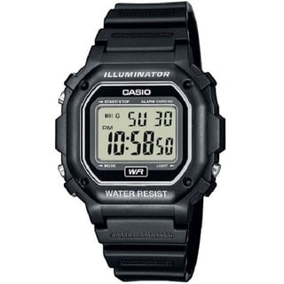 Casio Men's F108WH-1A Illuminator Collection Black Resin Strap Digital Watch