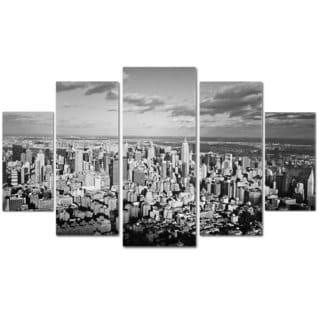 Ariane Moshayedi 'Aerial City' 5-piece Canvas Art