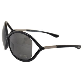 Tom Ford Women's 'TF9 Whitney 199' Black Oversized Sunglasses