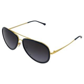 Tory Burch Women's 'TY 6025 286/11' Gold/ Navy Aviator Sunglasses