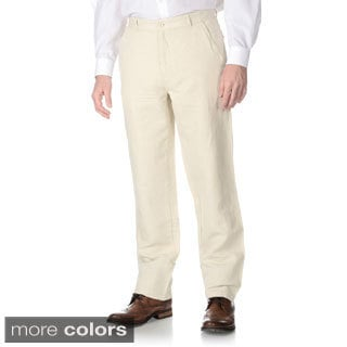 Numerio Men's Suit Separate 5-pocket Linen Pants