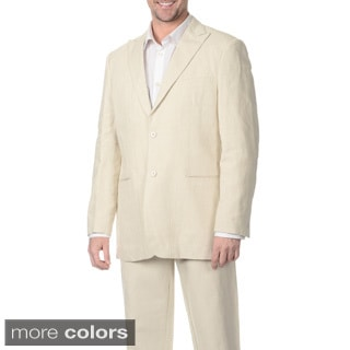 Numerio Men's Suit Separate 2-button Linen Blazer