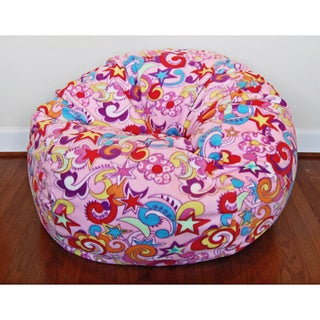 Anti-Pill Retro Fun Fleece 36-inch Washable Bean Bag Chair