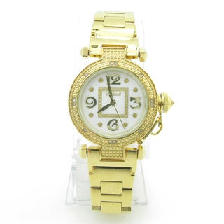 Joe Rodeo Women's 'JoJino' Goldtone Diamond Watch