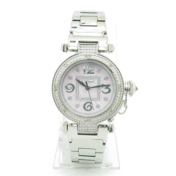 Joe Rodeo Women's 'JoJino' Pink Dial Diamond Watch