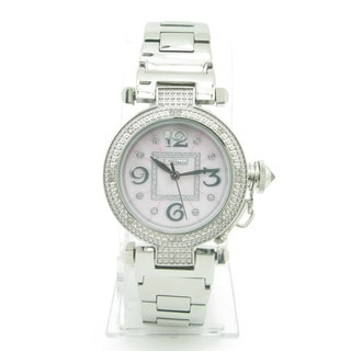 Joe Rodeo Women's 'JoJino' Pink Dial Diamond Watch