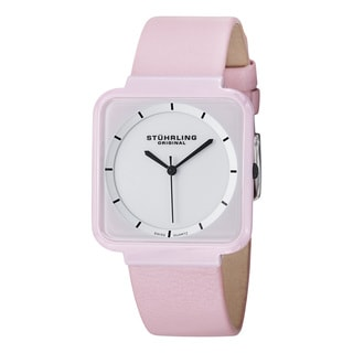 Stuhrling Original Women's Carnivale Swiss Quartz Leather Strap Watch