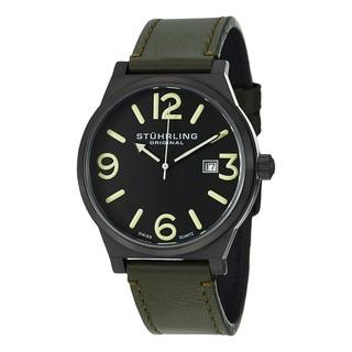 Stuhrling Original Men's Osprey Swiss Quartz Leather Strap Watch