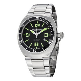 Stuhrling Original Men's Regatta DSV Swiss Quartz Stainless Steel Bracelet Watch