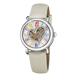 Stuhrling Original Women's Cupid Automatic Leather Strap Watch