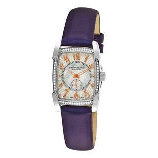 Stuhrling Original Women's Carnegie Rose Swiss Quartz Leather Strap Watch