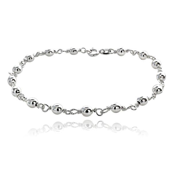 Mondevio Sterling Silver Beads Link Bracelet