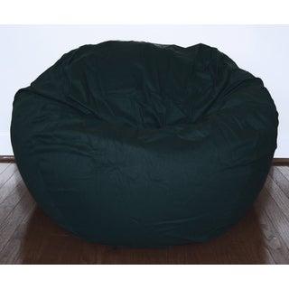 Black Cotton Twill 36-inch Washable Bean Bag Chair