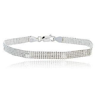 Mondevio Sterling Silver Mesh Fashion Bracelet