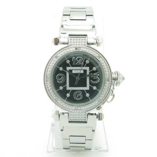 Joe Rodeo Women's 'JoJino' Black Dial Diamond Watch
