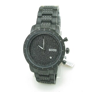 Joe Rodeo Men's 'JoJino' 1ct Diamond Black Watch