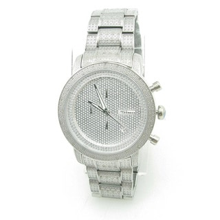 Joe Rodeo Men's 'JoJino' Stainless Steel Diamond Watch