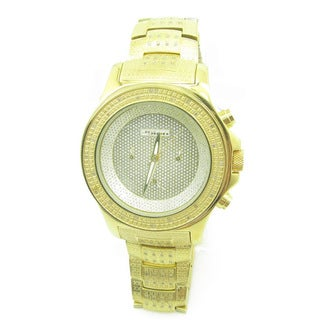 Joe Rodeo Men's 'JoJino' 1ct Diamond Goldtone Watch