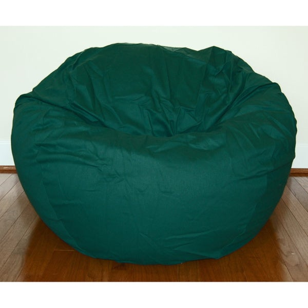 Dark Green Cotton Twill 36-inch Washable Bean Bag Chair
