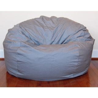 Light Grey Cotton Twill 36-inch Washable Bean Bag Chair