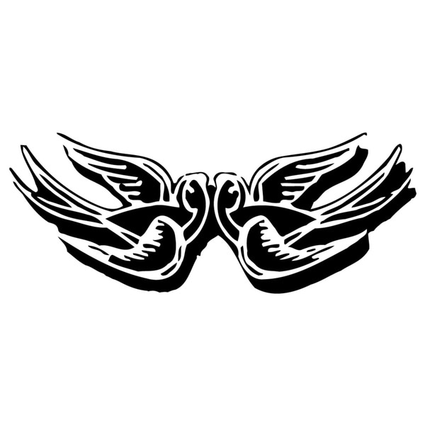 Two Flying Swallows Vinyl Wall Decal