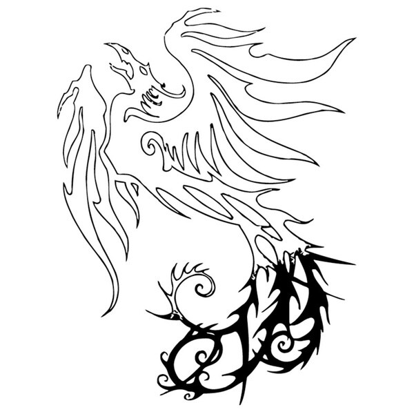Dragon Tattoo Black Vinyl Decal