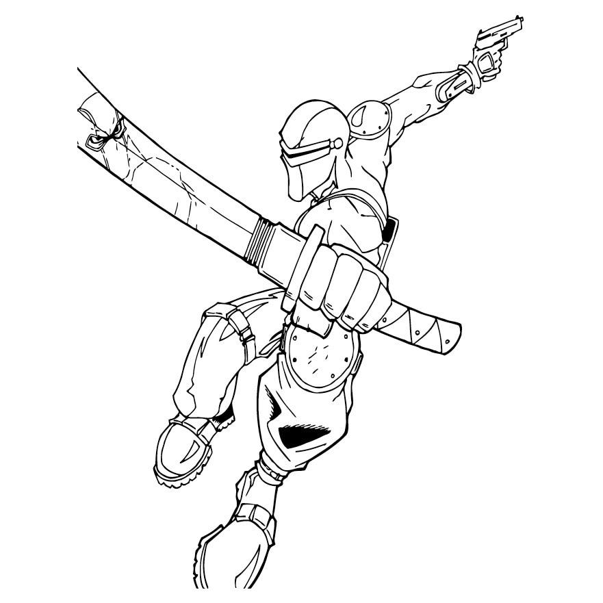Warrior Ninja Gaiden Coloring Pages