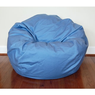Dusty Blue Cotton Twill 36-inch Washable Bean Bag Chair