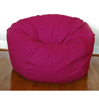 Magenta Cotton Twill 36-inch Washable Bean Bag Chair