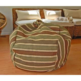 Wide Desert Stripes 36-inch Washable Bean Bag Chair
