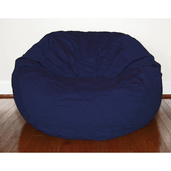 Navy Blue Cotton Twill 36-inch Washable Bean Bag Chair