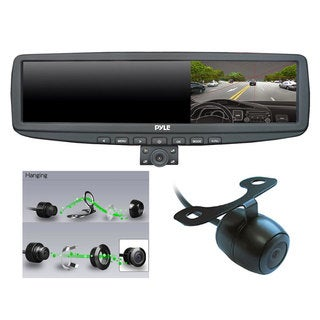 Pyle 720P HD 4.3-inch LCD Screen Rearview Mirror Dual Swivel Night Vision Camera DVR Motion Impact Recorder