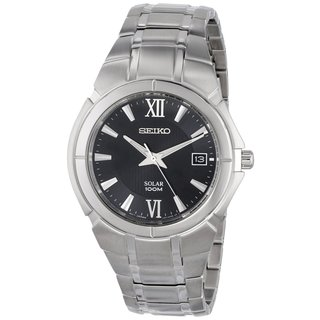 Seiko Men's 'SNE087' Two-tone Stainless Steel Watch