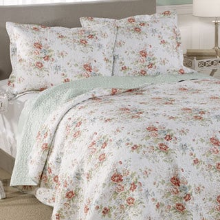 Laura Ashley Arundel Cotton 3-piece Quilt Set