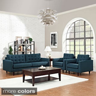 Empress 3-piece Upholstered Armchairs and Sofa Set