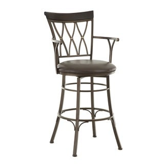 Bella Jumbo Metal Swivel Stool with Arms