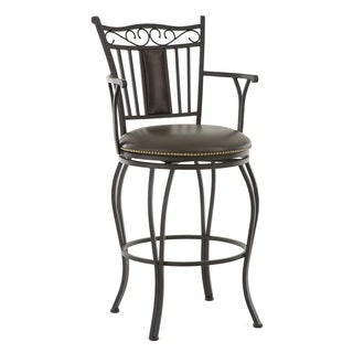 Berkshire Jumbo Metal Swivel Stool with Arms