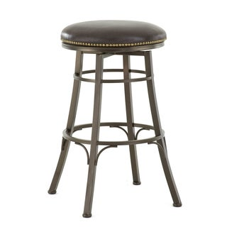 Bella Backless Metal Swivel Stool