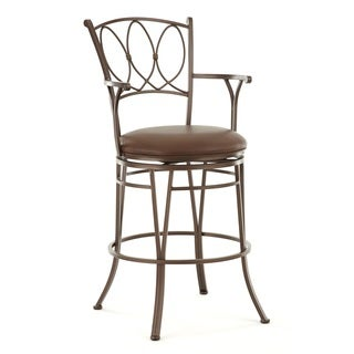 Dalmar Jumbo Metal Swivel Stool with Arms