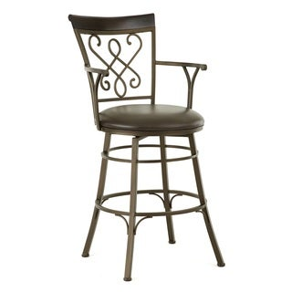 Captiva Jumbo Metal Swivel Stool with Arms