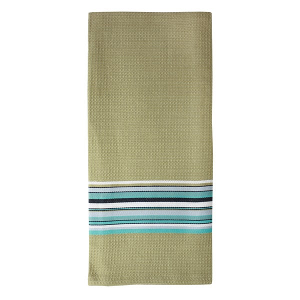 MUkitchen Toasted Almond Waffle Stripe Cotton Towel