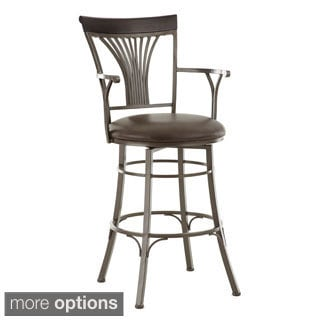 Carla Jumbo Metal Swivel Stool with Arms