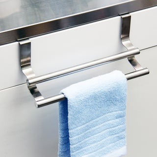 Over-the-cabinet Stainless Steel Dual Kitchen Towel Rack