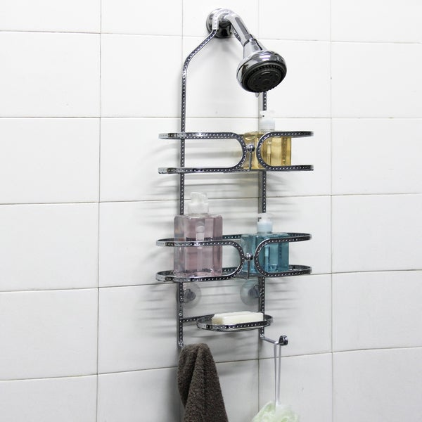 Chrome Steel 3-tier Shower Caddy